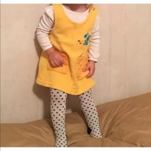 Vintage Blue Clues Yellow Fleece Jumper Dress